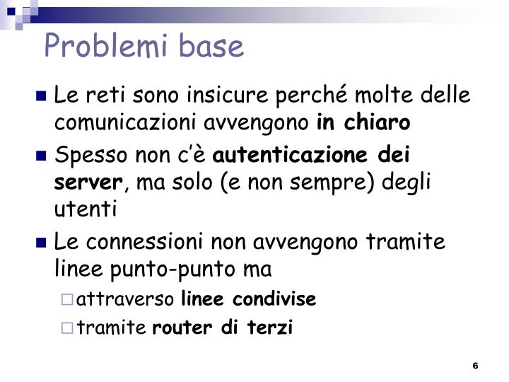 Problemi base