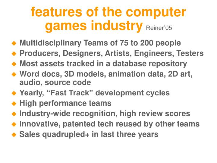 features of the computer