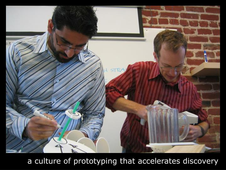 a culture of prototyping that accelerates discovery