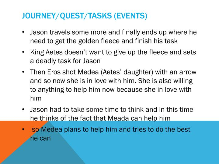 Journey/quest/tasks (events)