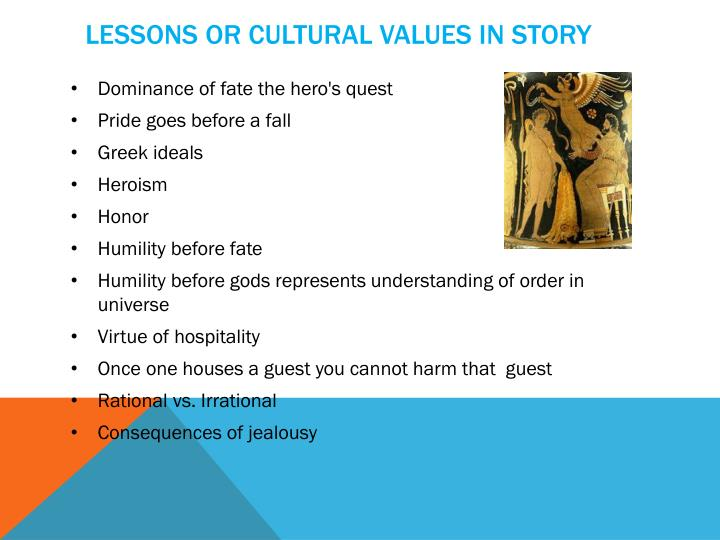 Lessons or cultural values in story