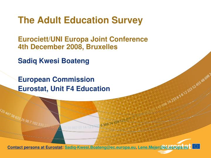The adult education survey eurociett uni europa joint conference 4th december 2008 bruxelles