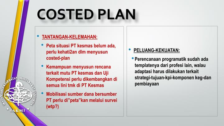 COSTED PLAN