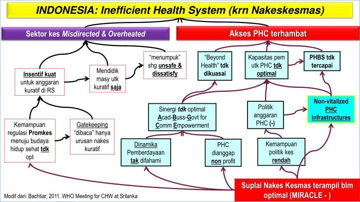INDONESIA: Inefficient Health System