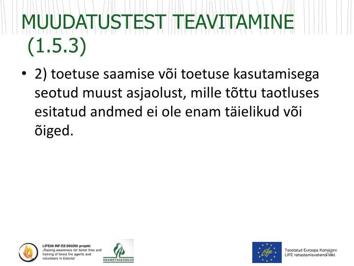 MUUDATUSTEST TEAVITAMINE