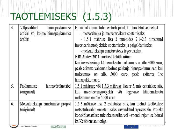 TAOTLEMISEKS  (1.5.3)