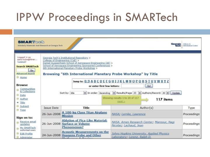IPPW Proceedings in SMARTech
