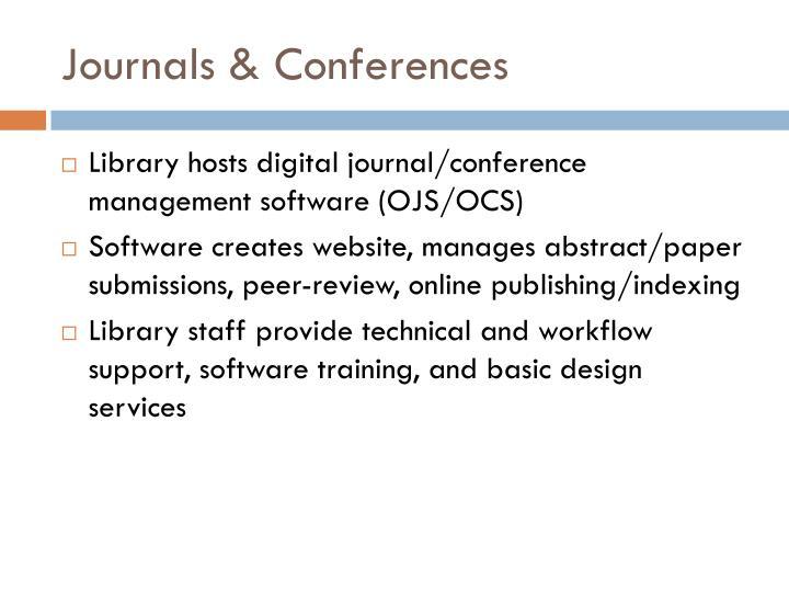 Journals & Conferences