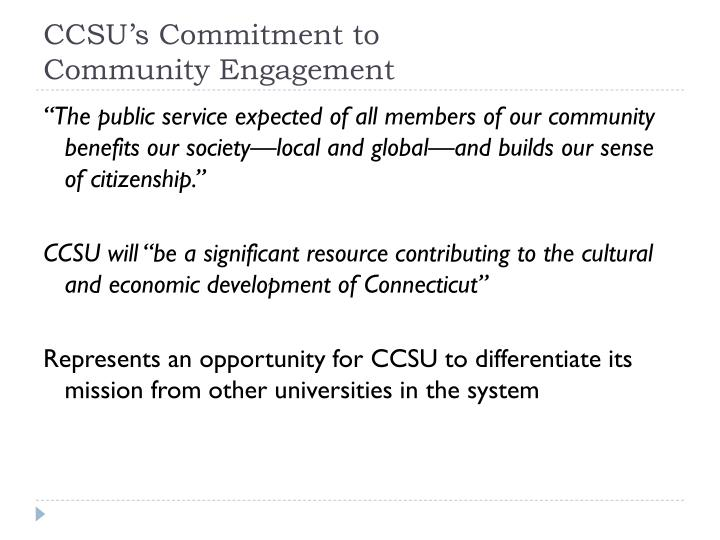 CCSU's Commitment to