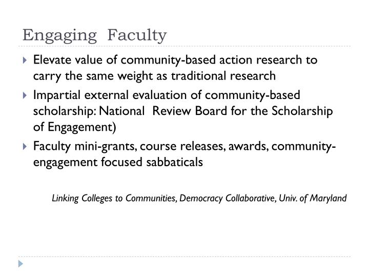 Engaging  Faculty