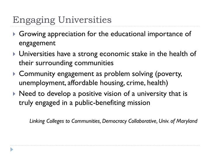 Engaging Universities