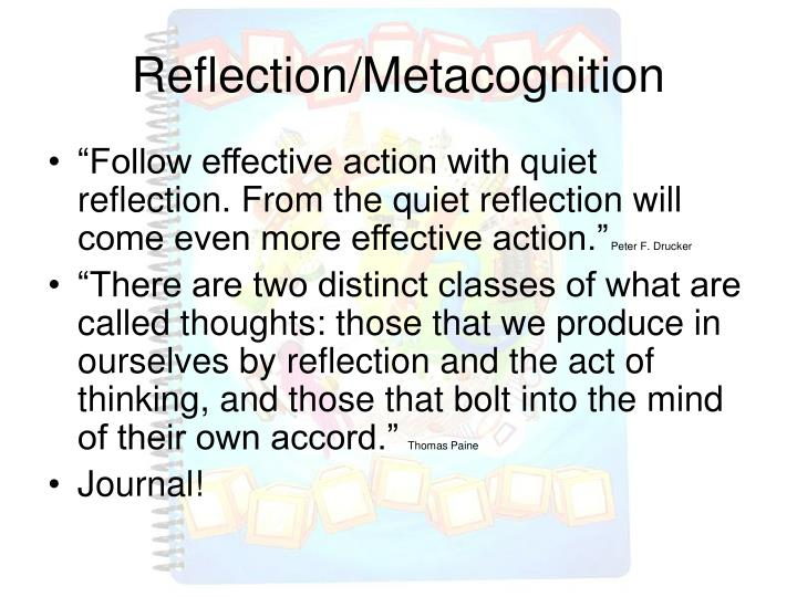 Reflection/Metacognition