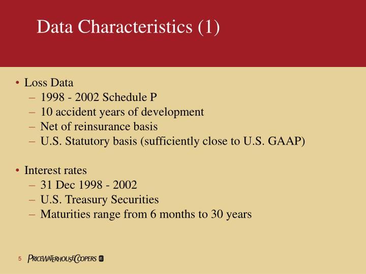 Data Characteristics (1)