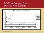 mvm by company size personal auto liability