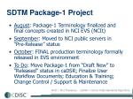 sdtm package 1 project
