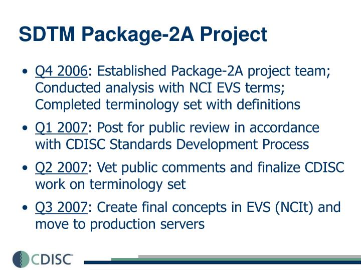 SDTM Package-2A Project