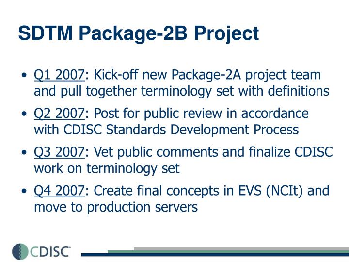 SDTM Package-2B Project