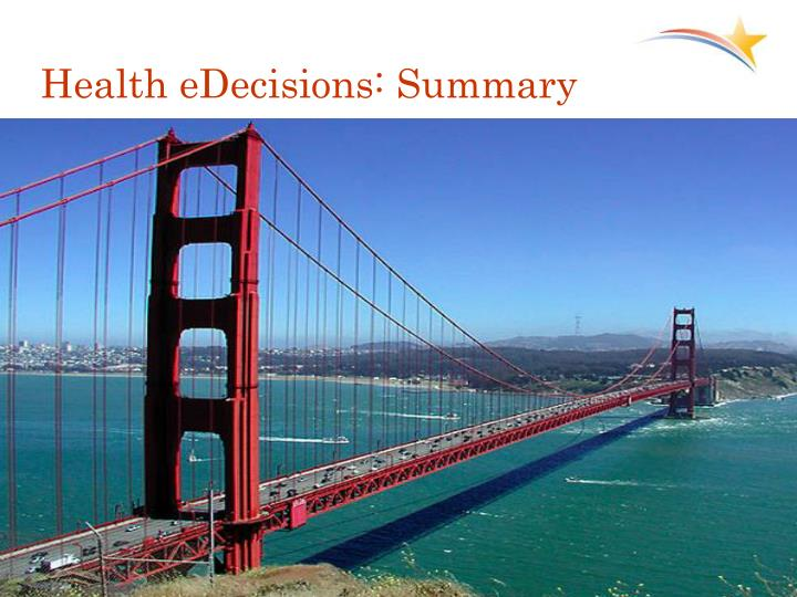 Health eDecisions: Summary
