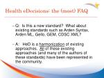 health edecisions the most faq