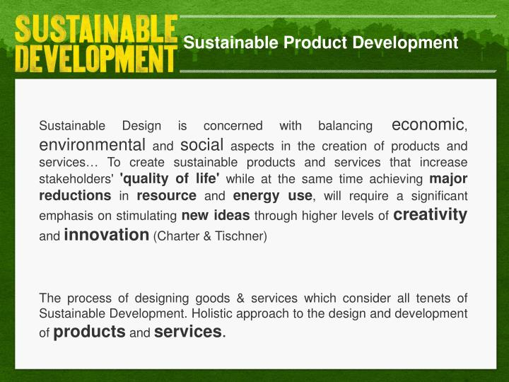 Sustainable Product Development