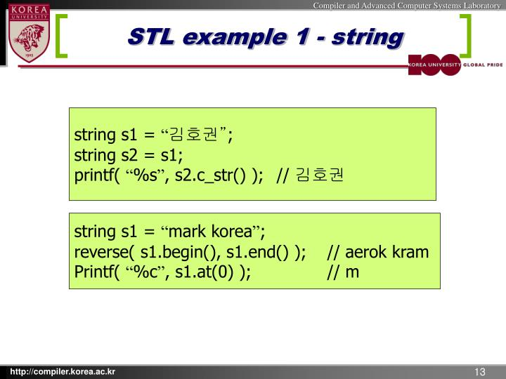 STL example 1 - string