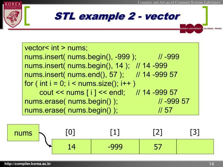 STL example 2 - vector