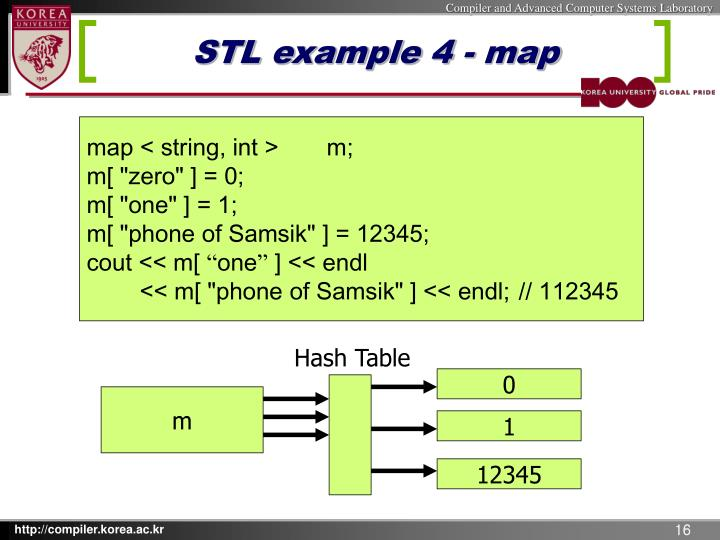 STL example 4 - map