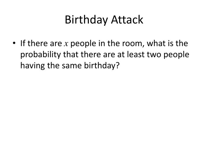 Birthday Attack