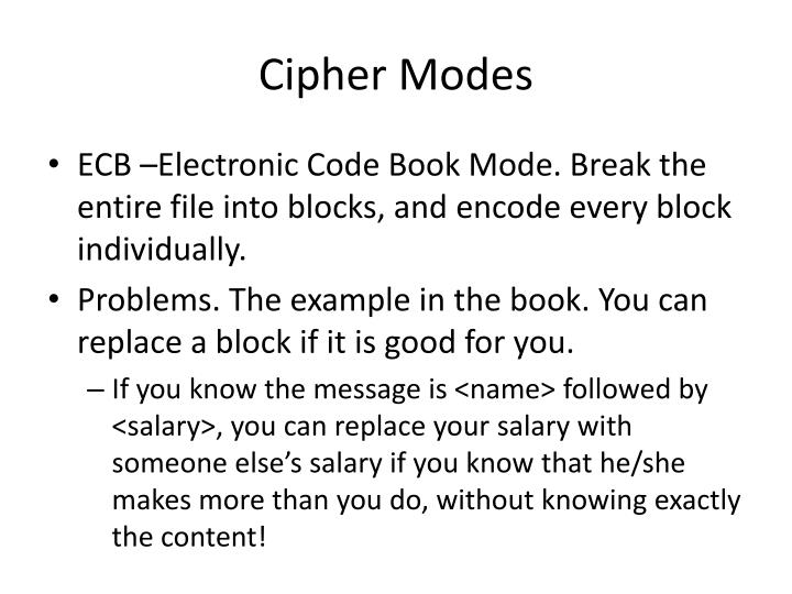 Cipher Modes