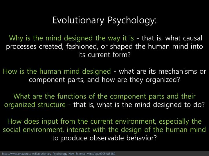 Evolutionary Psychology: