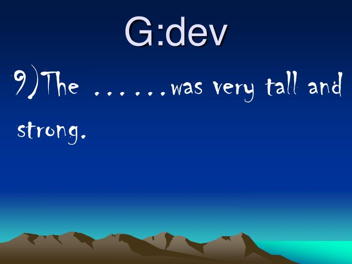 G:dev