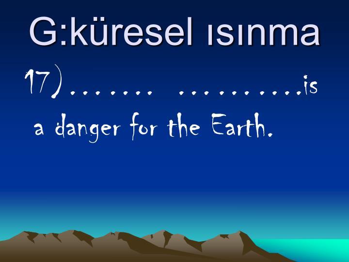 G:küresel ısınma