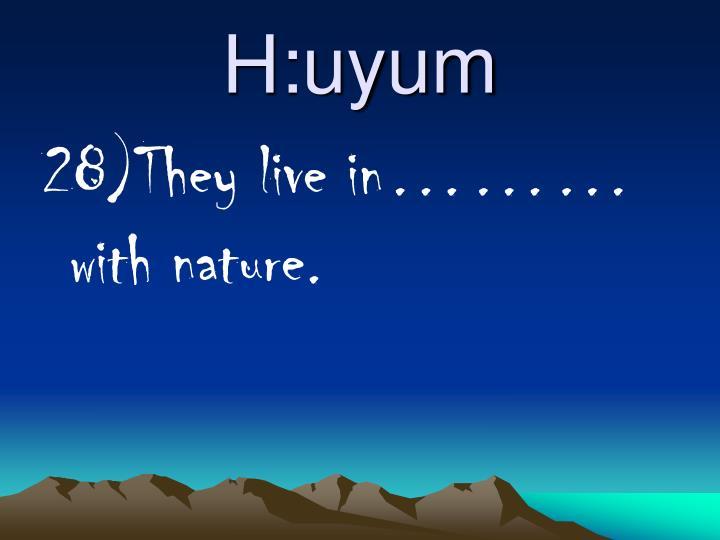 H:uyum