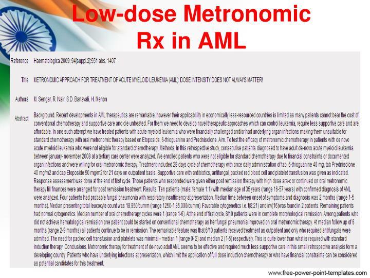 Low-dose Metronomic