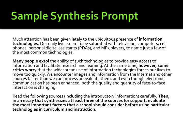 Sample Synthesis Prompt