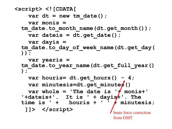 <script> <![CDATA[