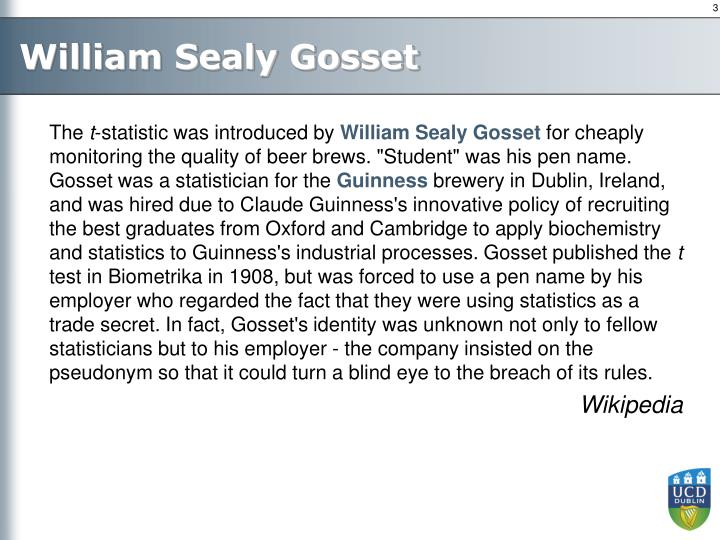 William Sealy Gosset