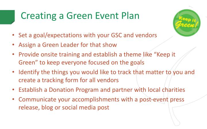 Creating a Green Event Plan