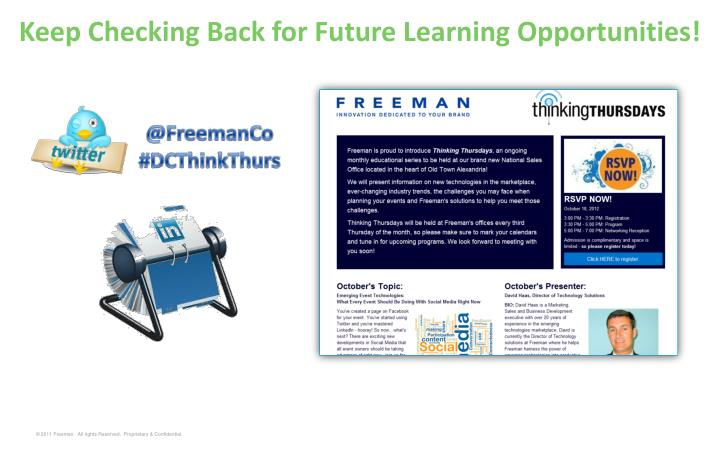 Keep Checking Back for Future Learning Opportunities!