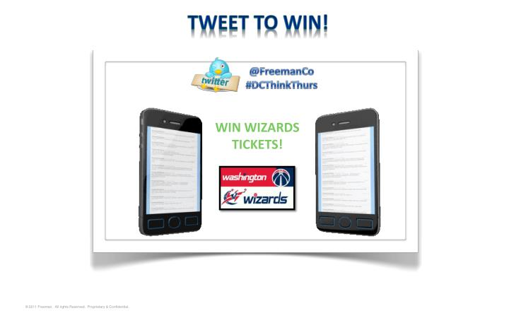 TWEET TO WIN!