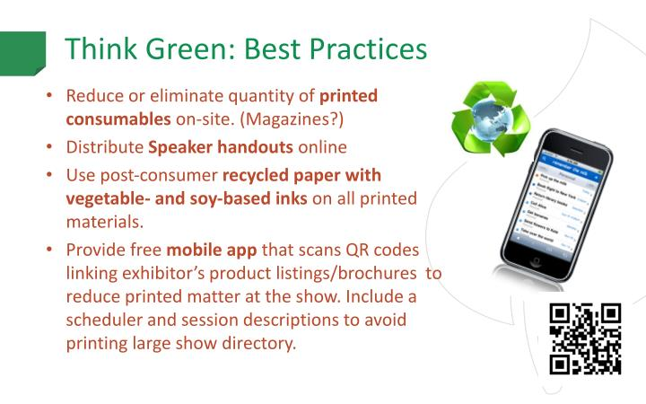 Think Green: Best Practices