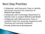 next step priorities5