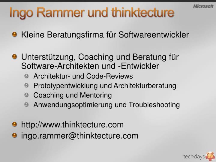 Ingo Rammer und thinktecture