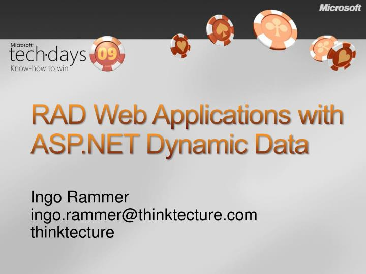 RAD Web Applications with