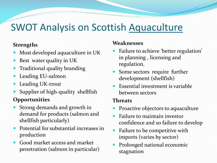 SWOT Analysis on Scottish