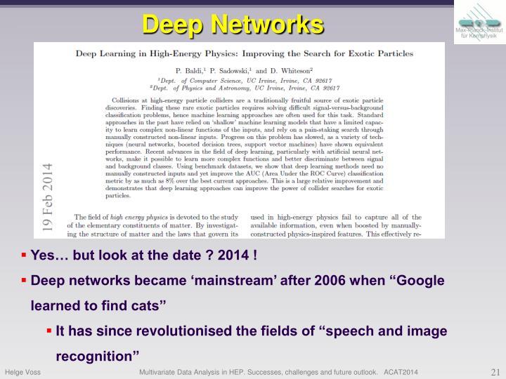 Deep Networks
