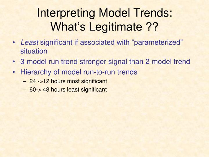 Interpreting Model Trends: