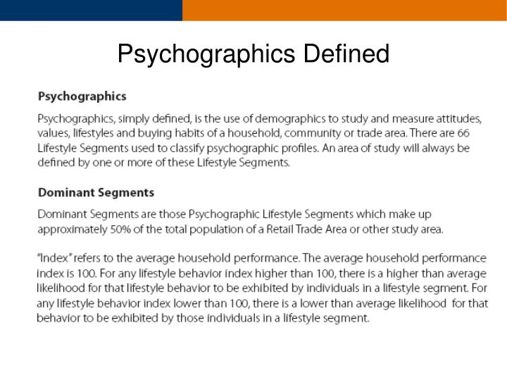 Psychographics Defined