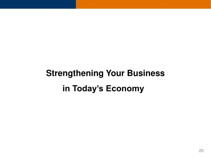 Strengthening Your Business