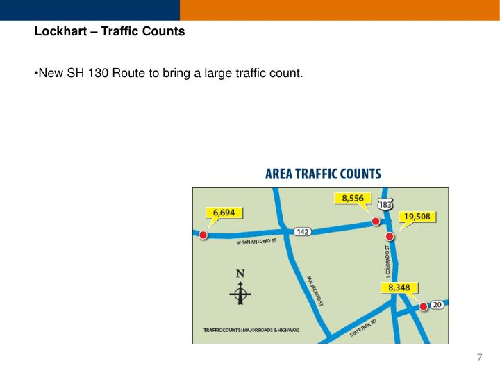 Lockhart – Traffic Counts